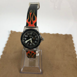 lucky Accessories - Vintage  Plastic Lucky Watch Time up in Flames